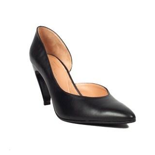 Robert Clergerie Women's 'Kross' Leather D'orsay Pump Heel Black Shoes