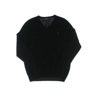 Polo Ralph Lauren Mens Pullover Sweater Signature V-Neck