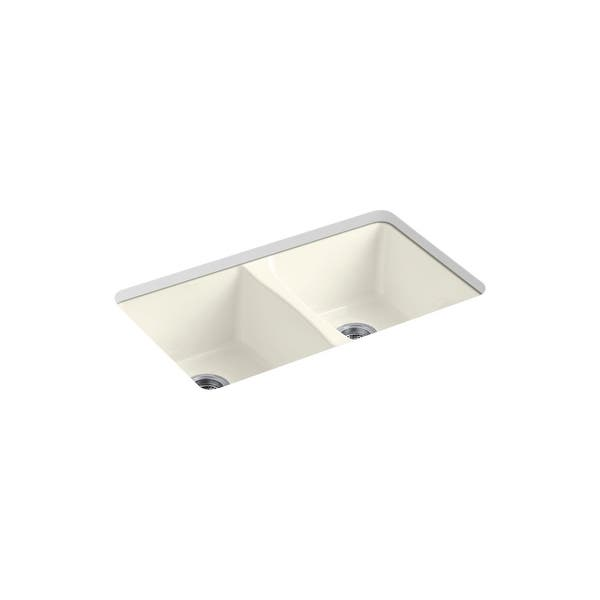 Shop Kohler Octave 33 X22 X9 5 16 Top Undermount 2 Equal Stainless Steel Kitchen Sink With 1 Faucet Hole K 3842 1 Na Overstock 31511805