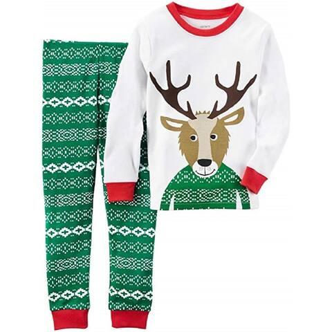 Carter's Little Boys' 2 Piece Cotton 341g246, Reindeer, 4T