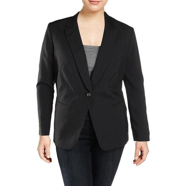 b02aa1d010c Shop Tahari ASL Womens Plus One-Button Blazer Pinstripe Office - Free  Shipping On Orders Over  45 - Overstock - 25717260