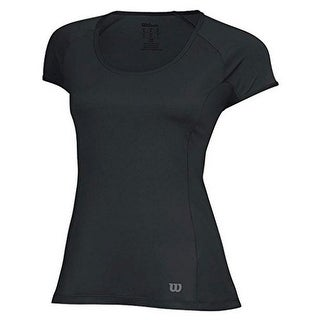 Wilson Womens nVision Elite Cap Sleeve Top, Black, M