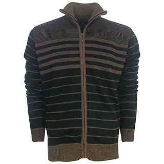 True Rock Men's Full-Zip Striped Golf Sweater
