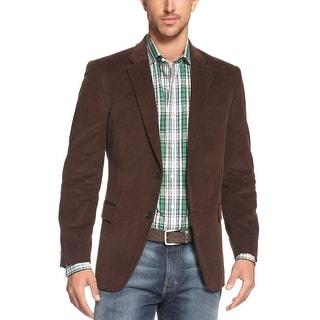 Tommy Hilfiger Willow Dark Brown Cotton Corduroy Sportcoat Blazer 42 Long 42L