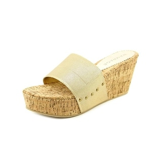 Rampage Maizy   Open Toe Canvas  Wedge Sandal