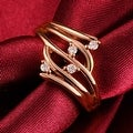 Rose Gold Crystal Jewels Abstract Ring - Thumbnail 3