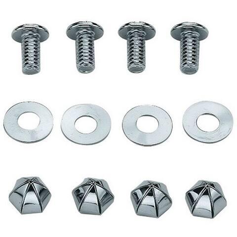 Custom Accessories 94445 Metal License Plate Fasteners