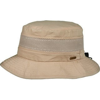 Stetson Men's Nylon Anti Mosquito Boonie Hat with Neck Shield - Khaki - Medium
