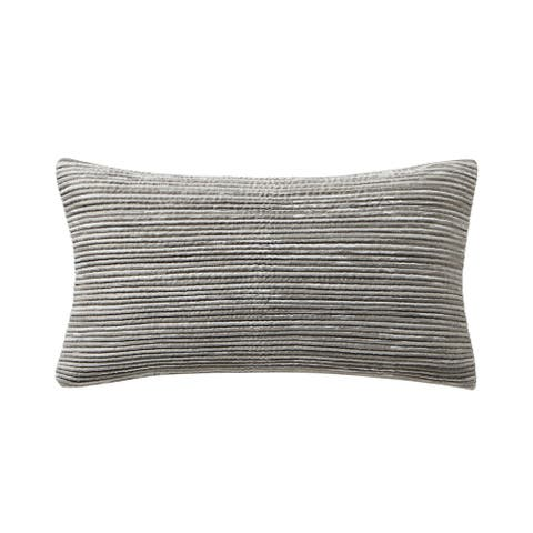 """Waterford Arianna 11"""" x 20"""" Ribbed Pillow"""