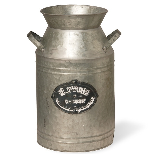 "15"" Garden Accents Antique Milk Can - Silver - N/A"