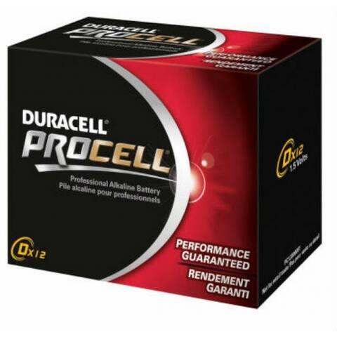 Duracell PC1300 Procell Alkaline D Battery, 1.5 Volt, 12-Pack