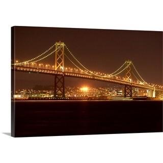 Premium Thick-Wrap Canvas entitled USA, California, San Francisco, Bay Bridge, night