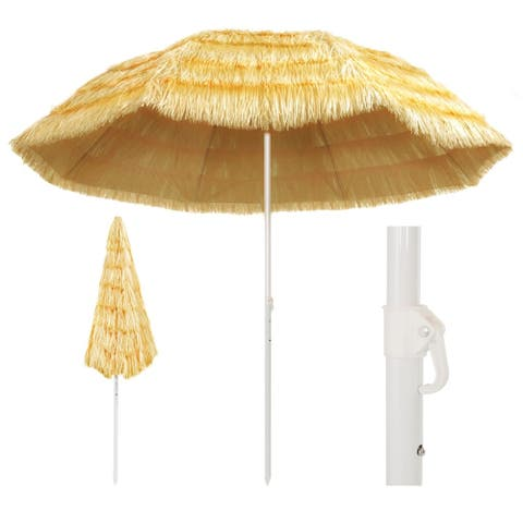 "vidaXL Beach Umbrella Natural 118.1"" Hawaii Style"