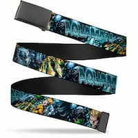 Blank Black Buckle Aquaman The Trench Part One Comic Book Cover Web Belt
