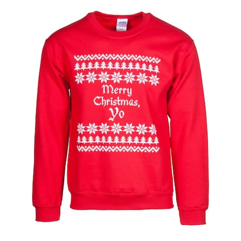 Mens Merry Christmas Yo Red Ugly Sweater