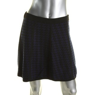 Design History Womens A-Line Skirt Knit Houndstooth - M