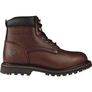 """Roadmate Boot Co. Men's 647 6"""" Padded Collar Work Boot Moondance Oil Full Grain Leather"""