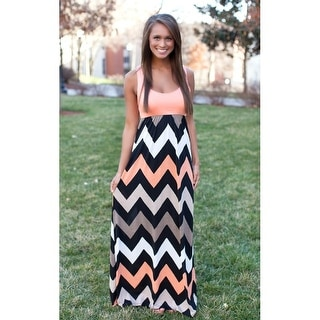 Womens Summer Zig Zag Pattern Sleeveless Tank Beach Dress Sundress