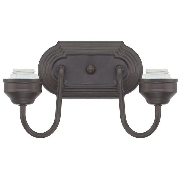 Westinghouse 6300300 Two Wall Light Fixture Oil Rubbed Bronze