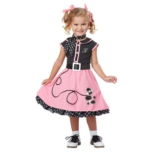 toddler 50s poodle cutie girls grease halloween costume