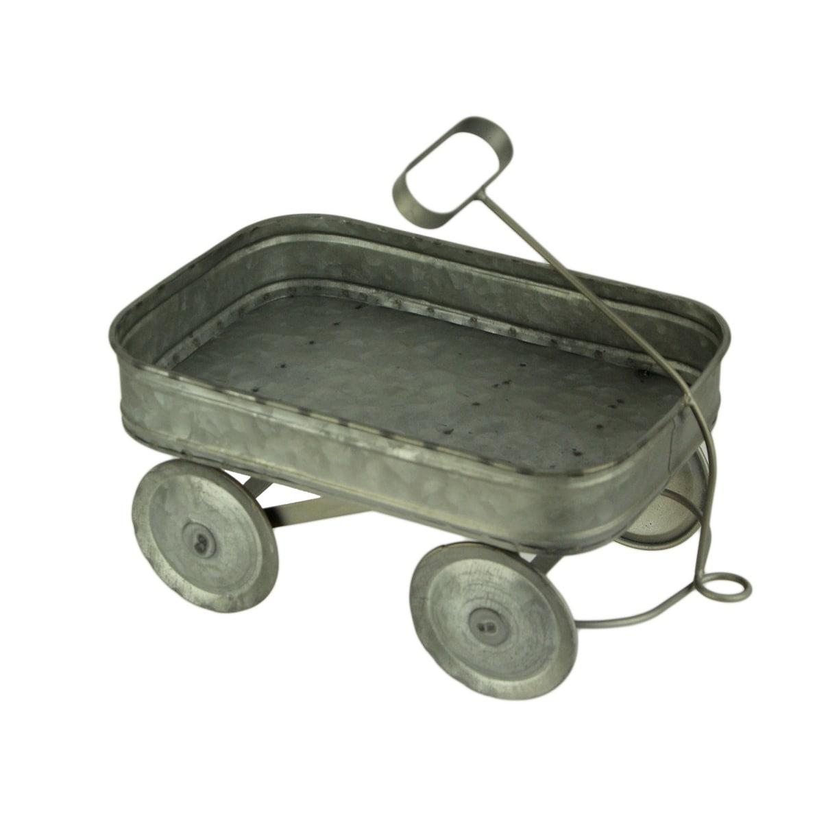 Wagon Wheel Coffee Table Galvanized Metal Farmhouse Rustic Furniture Home Decor
