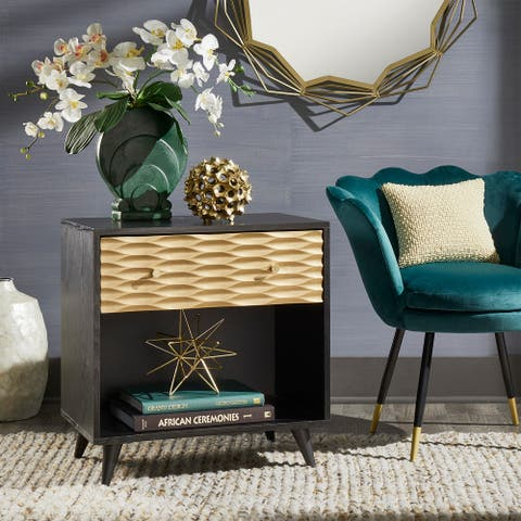 Icarus Two-Tone 1-Drawer End Table by iNSPIRE Q Bold