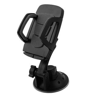 Unique Bargains Black Plastic Car Windshield Suction Cup Rotary PDA GPS Bracket Holder