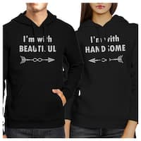 Beautiful And Handsome Black Pullover Hoodies Matching Couples Gift