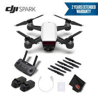 DJI Spark Portable Mini Drone Quadcopter  Bundle  w/ Remote Controller + 2 Year Extended Warranty