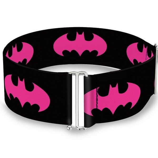 Batman Signal Black Fuchsia Cinch Waist Belt ONE SIZE