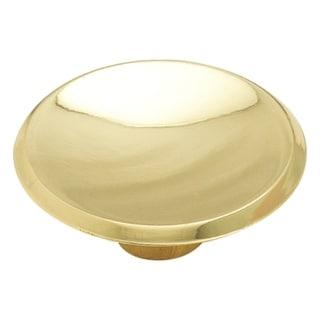 "Amerock BP3414-3 Modern Knob, 1-3/4"" Dia, Polished Brass"