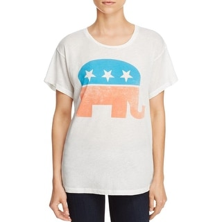 Wildfox Couture Womens Graphic Tee Jewel Neck Short Sleeves - m