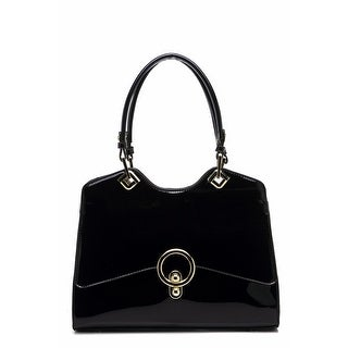 Style Strategy Kiss Lock Double Handle Bag Black