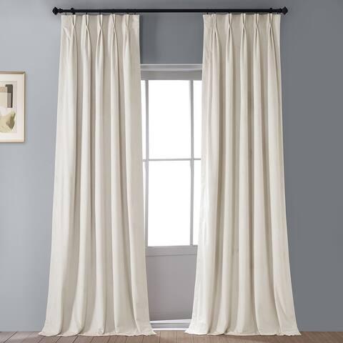 Exclusive Fabrics Signature Pleated Blackout Velvet Curtain (1 Panel)