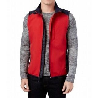 Tommy Hilfiger NEW Red Blue Mens Size XL Full-Zipped Jacket Vest