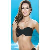 Twist Bandeau Bikini Top With Removable Straps, Bandeau Bikini Top