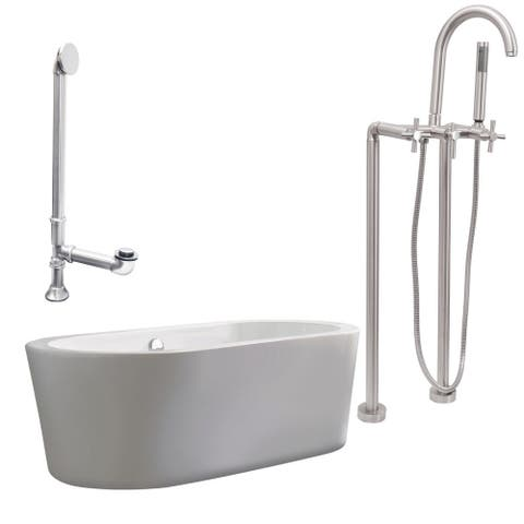 "Giagni LV2-C Ventura 67"" Free Standing Soaking Tub Package -"