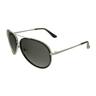Salvatore Ferragamo SF146S 001 Black/Silver Aviator Sunglasses - 58-13-135