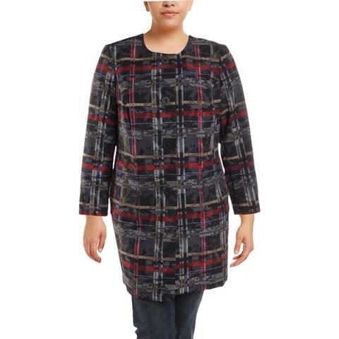 Nine West Womens Plus Midi Coat Fall Fashion
