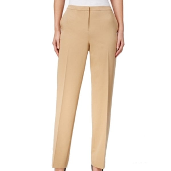 Tommy Hilfiger NEW Beige Camel Women's Size 4X31 Slim-Leg Dress Pants