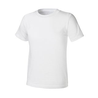 Boys' Hanes Ultimate ComfortSoft White Crewneck Undershirt 5-Pack - L