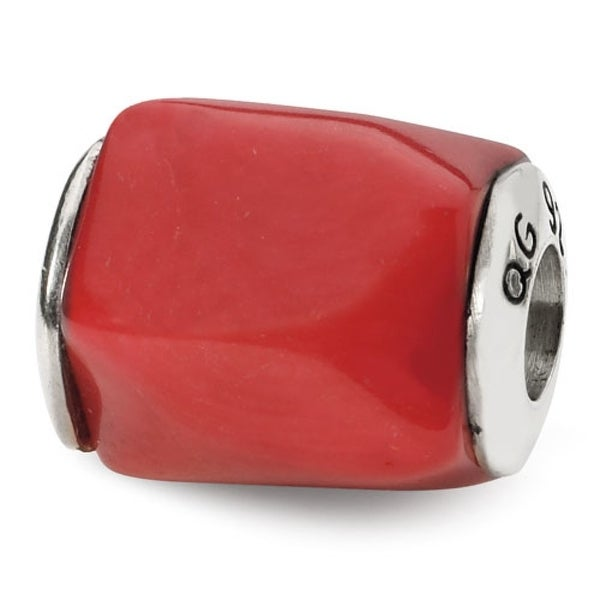 Sterling Silver Reflections Coral Stone Bead (4mm Diameter Hole)