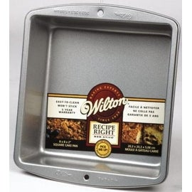 "Wilton 2105-956 Recipe Right Square Cake Pan, 8"" x 8"""