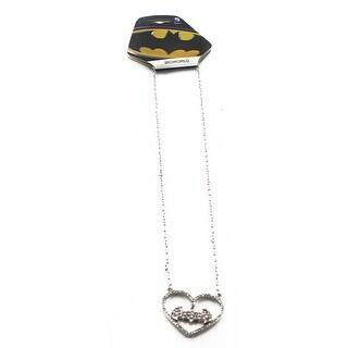 Batman Hanging Heart Necklace