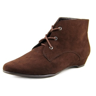 Aerosoles Soterday Night Women Round Toe Canvas Brown Ankle Boot