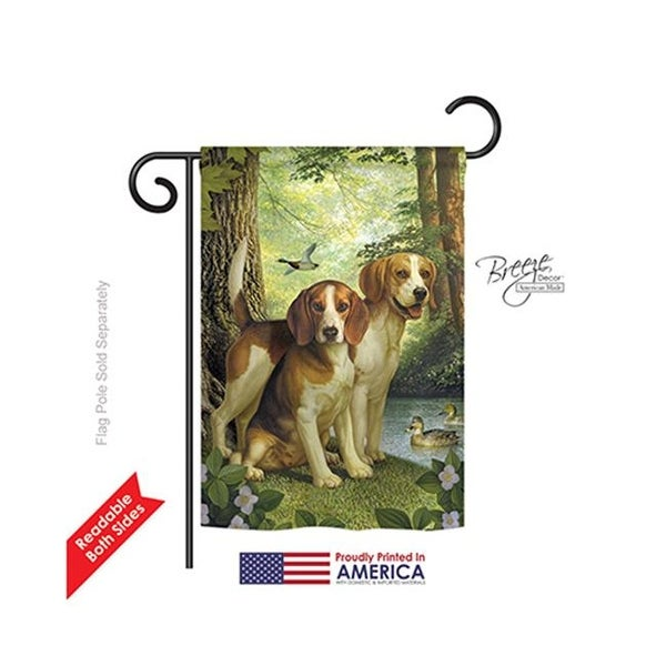 Pets Beagles U0026amp; Duck 2 Sided Impression Garden Flag   13 X ...