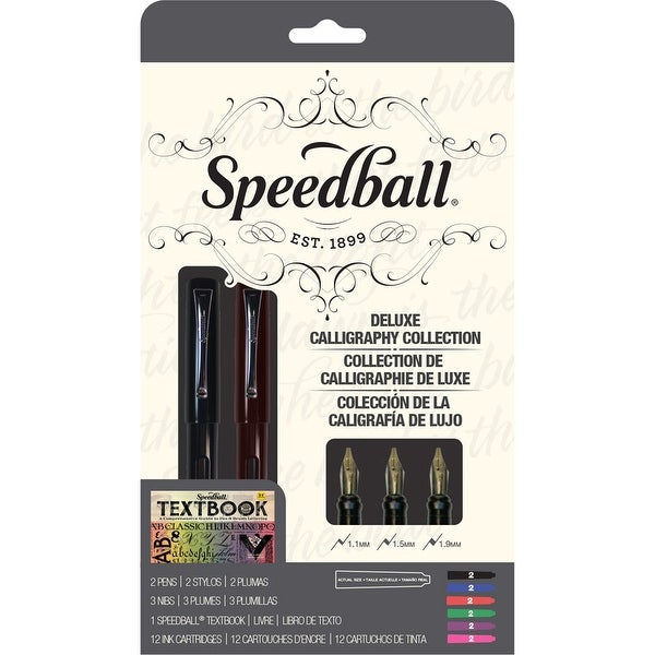 Speedball Calligraphy Deluxe Fountain Pen Set-
