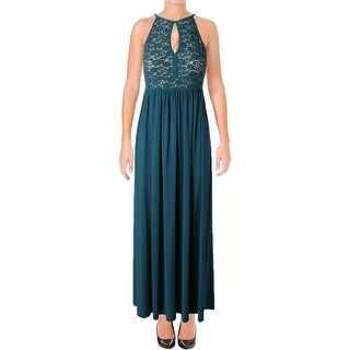 NW Nightway Womens Petites Evening Dress Lace Sequined - 8P