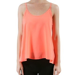 NE PEOPLE Womens Sleeveless Swing Chiffon Cami Top [NEWT123] (More options available)