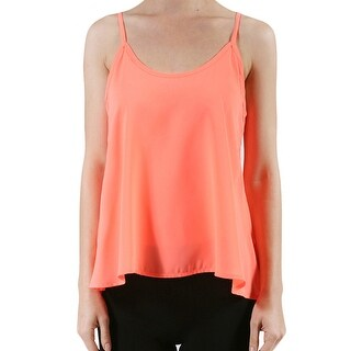 NE PEOPLE Womens Sleeveless Swing Chiffon Cami Top [NEWT123]